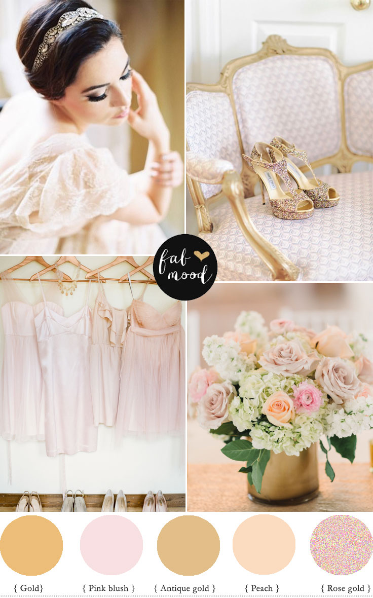Rose gold , gold and blush Spring wedding | fabmood.com #wedding #weddingcolor #weddingdress