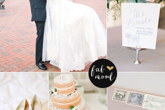 Elegant Ballroom Wedding { Neutral & Gold Palette }
