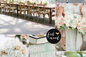 fabmood.com | Bush peach Gold Grey and Mint Wedding Colour Palette