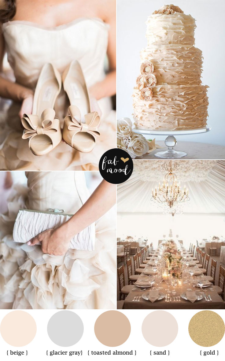 Fab Mood Wedding palette | Toasted almond and Glacier Gray palette