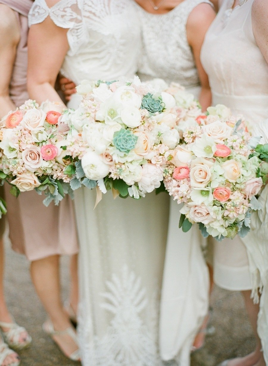 bridesmaids | mint an grey wedding colour palette | Photography : Austin Warnock Photography
