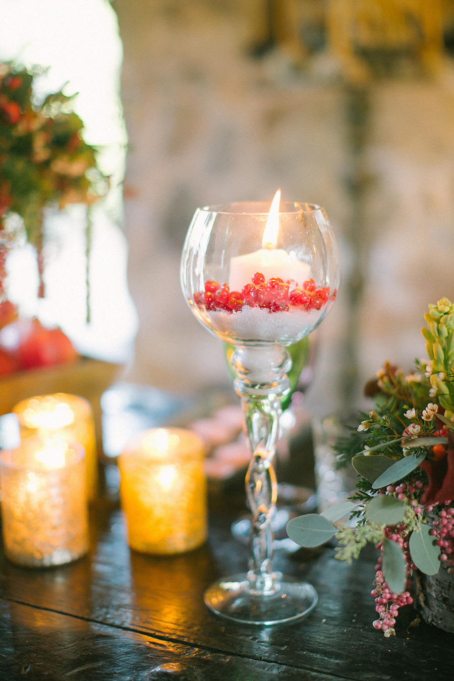 winter wedding decor - Boho Chic Wedding Inspiration Shoot from Anna Roussos Photography - annaroussos.com | Read more : https://www.fabmood.com/boho-chic-wedding-inspiration-shoot-anna-roussos-photography