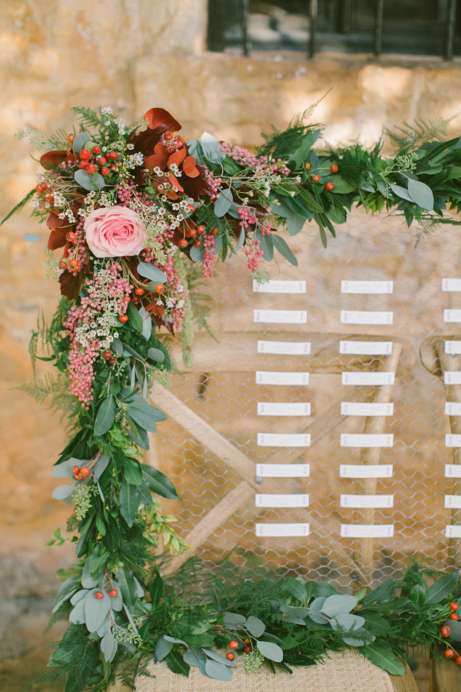 wedding escort cards - Boho Chic Wedding Inspiration Shoot from Anna Roussos Photography - annaroussos.com | Read more : https://www.fabmood.com/boho-chic-wedding-inspiration-shoot-anna-roussos-photography