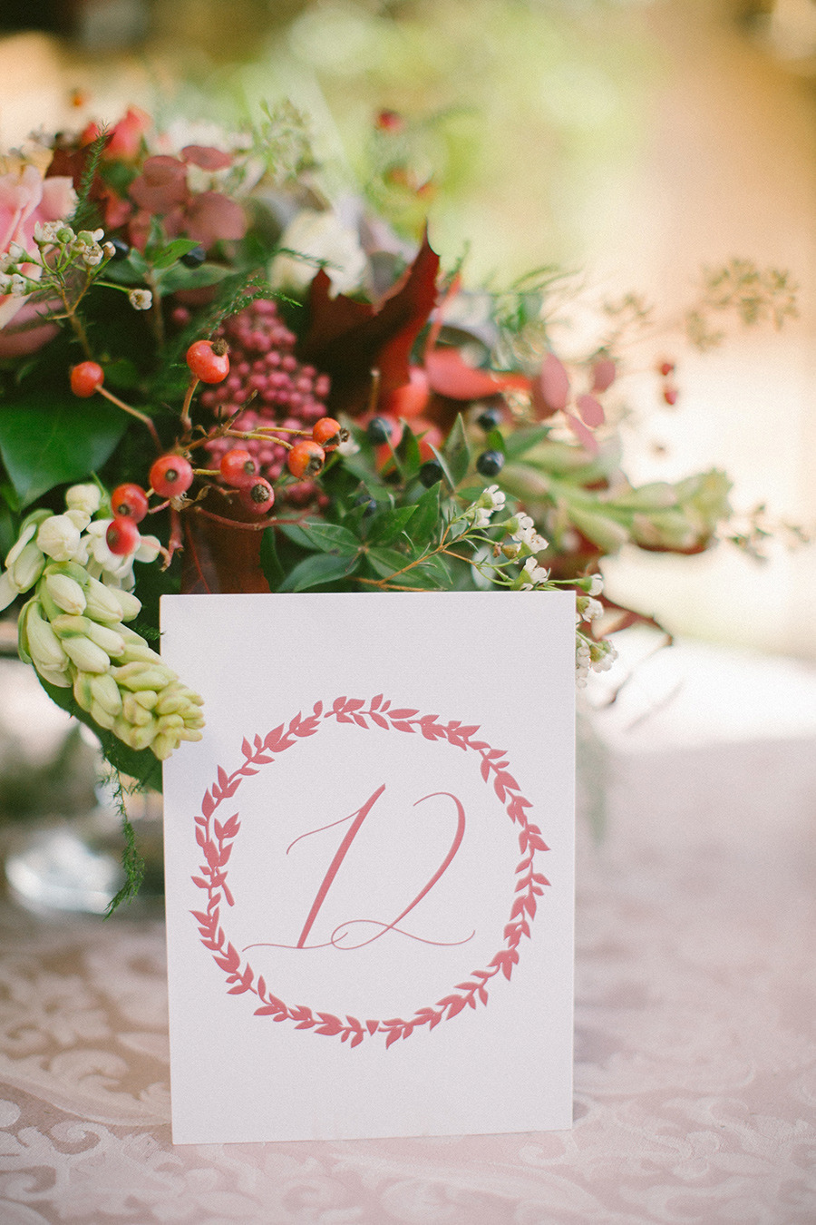 calligraphy wedding table number -Boho Chic Wedding Inspiration Shoot from Anna Roussos Photography - annaroussos.com | Read more : https://www.fabmood.com/boho-chic-wedding-inspiration-shoot-anna-roussos-photography