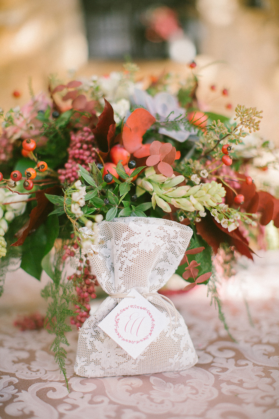winter wedding favor - Boho Chic Wedding Inspiration Shoot from Anna Roussos Photography - annaroussos.com | Read more : https://www.fabmood.com/boho-chic-wedding-inspiration-shoot-anna-roussos-photography