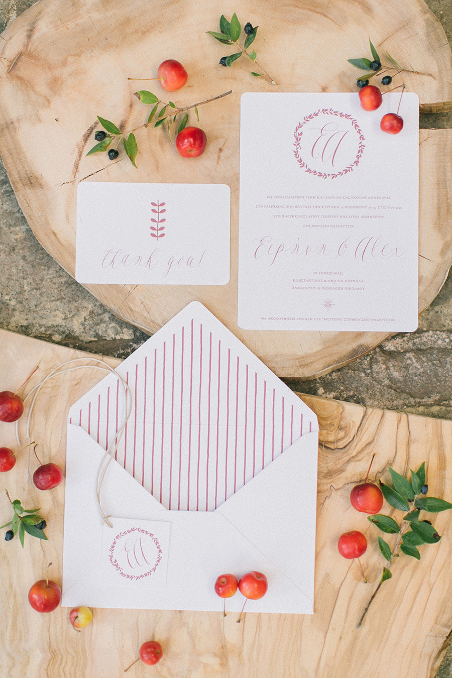 winter wedding invitaion - Boho Chic Wedding Inspiration Shoot from Anna Roussos Photography - annaroussos.com | Read more : https://www.fabmood.com/boho-chic-wedding-inspiration-shoot-anna-roussos-photography