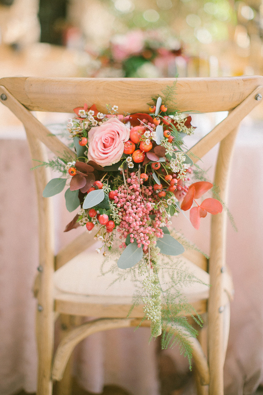 wedding chair decor - Boho Chic Wedding Inspiration Shoot from Anna Roussos Photography - annaroussos.com | Read more : https://www.fabmood.com/boho-chic-wedding-inspiration-shoot-anna-roussos-photography