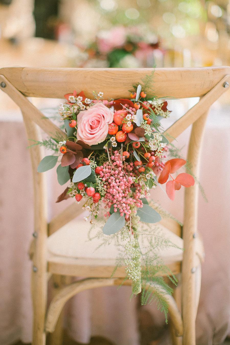 wedding chair decor - Boho Chic Wedding Inspiration Shoot from Anna Roussos Photography - annaroussos.com | Read more : http://www.fabmood.com/boho-chic-wedding-inspiration-shoot-anna-roussos-photography