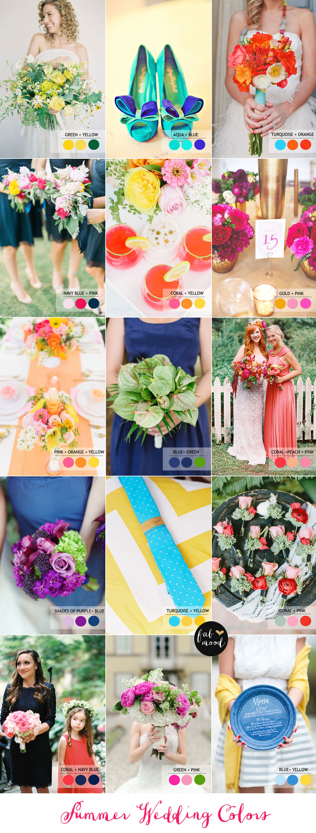 15 Fabulous Summer wedding Color Combos
