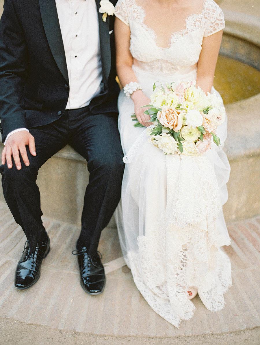 Traditional elegance outdoor wedding   Santa Barbara Historical Museum Wedding from Lane Dittoe Photography - lanedittoe.com