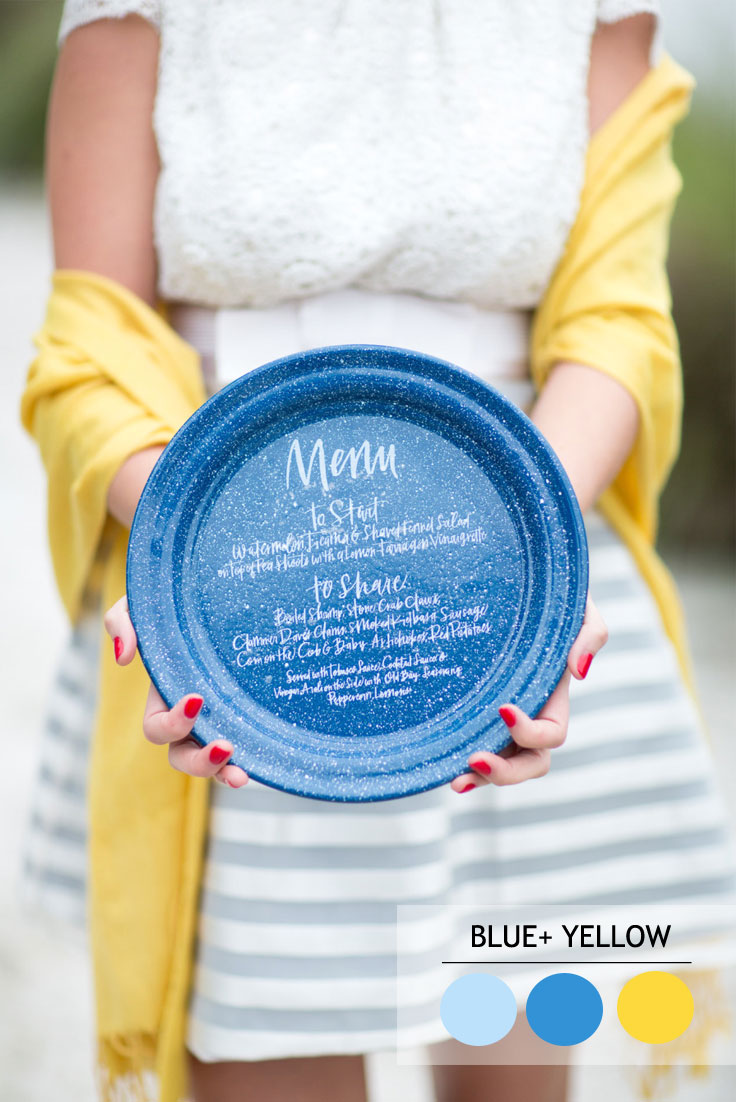 Blue and Yellow summer wedding color combos