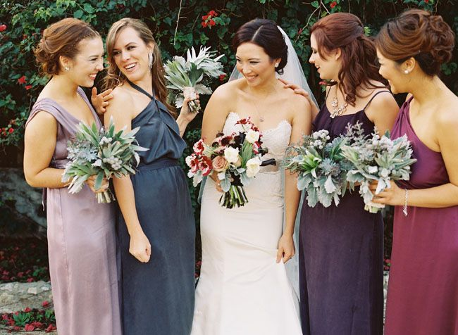 Jewel tones bridesmaid dresses