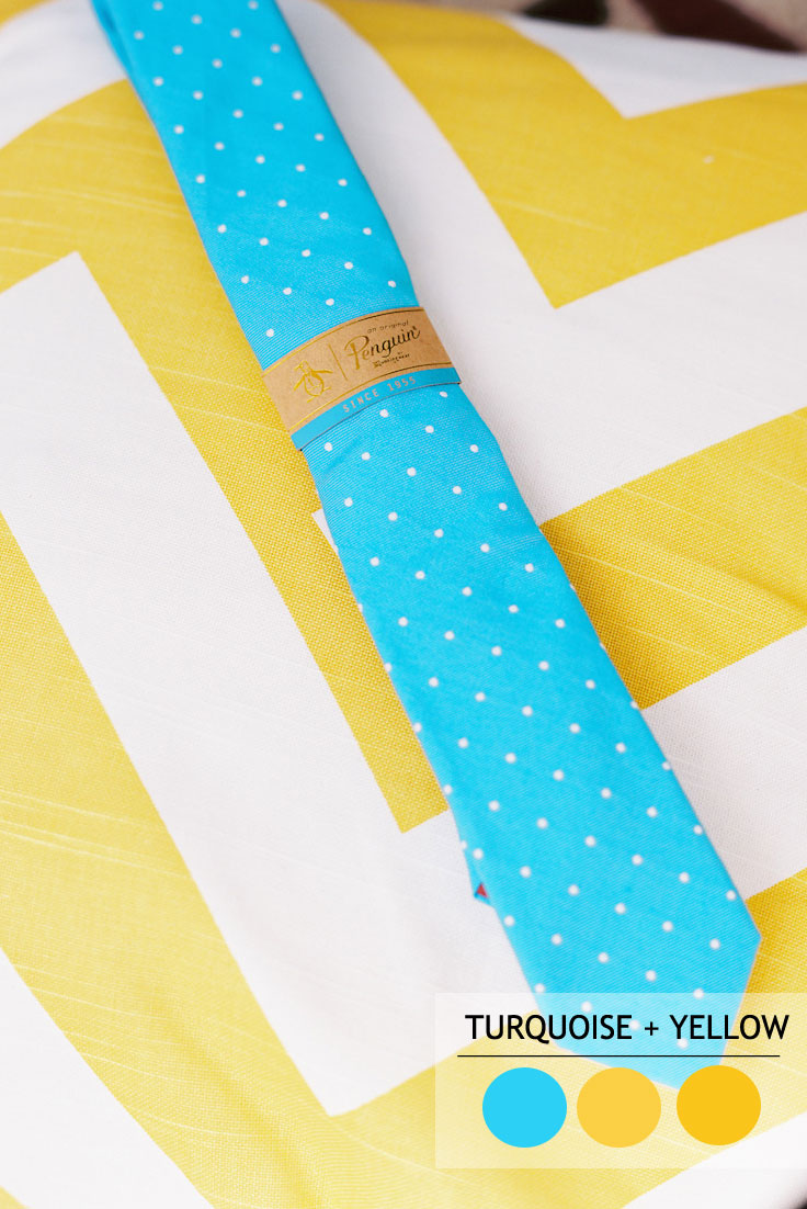 Turquoise And Yellow summer wedding color combos