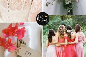 romantic garden wedding,pink wedding