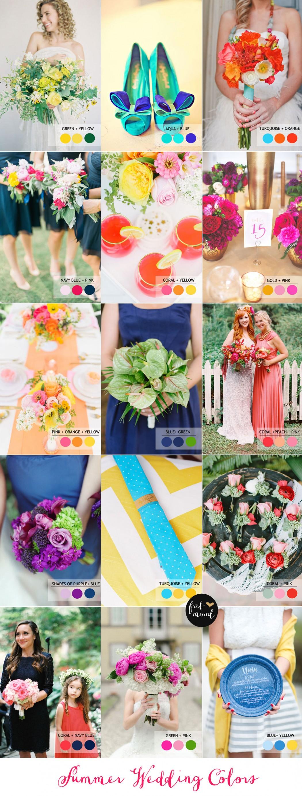 15 Fabulous Summer Wedding Color Combos SUMMER WEDDING COLORS