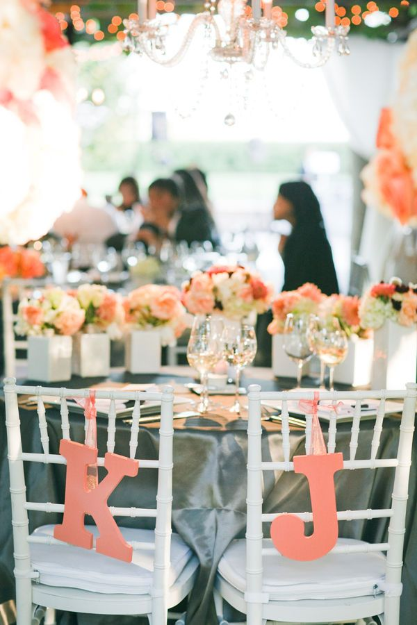 Coral And Grey Wedding Decorations Choice Image - Wedding Decoration ...