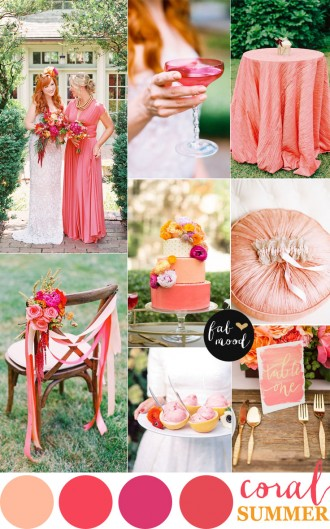 coral + shades of pink and peach for summer wedding,summer wedding,coral wedding color combinations,coral wedding color scheme,coral wedding color combos