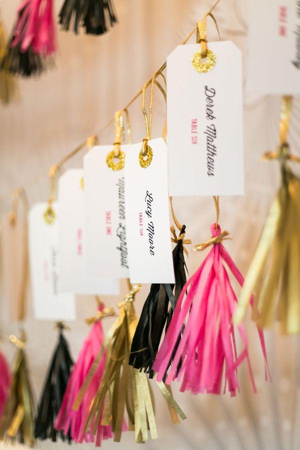 Tassel escort cards | photo by Anneli Marinovich Photography