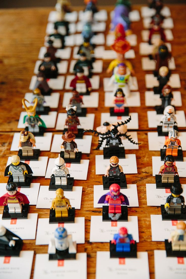 Whimsical Wedding Ideas Escort Cards With Lego Characters