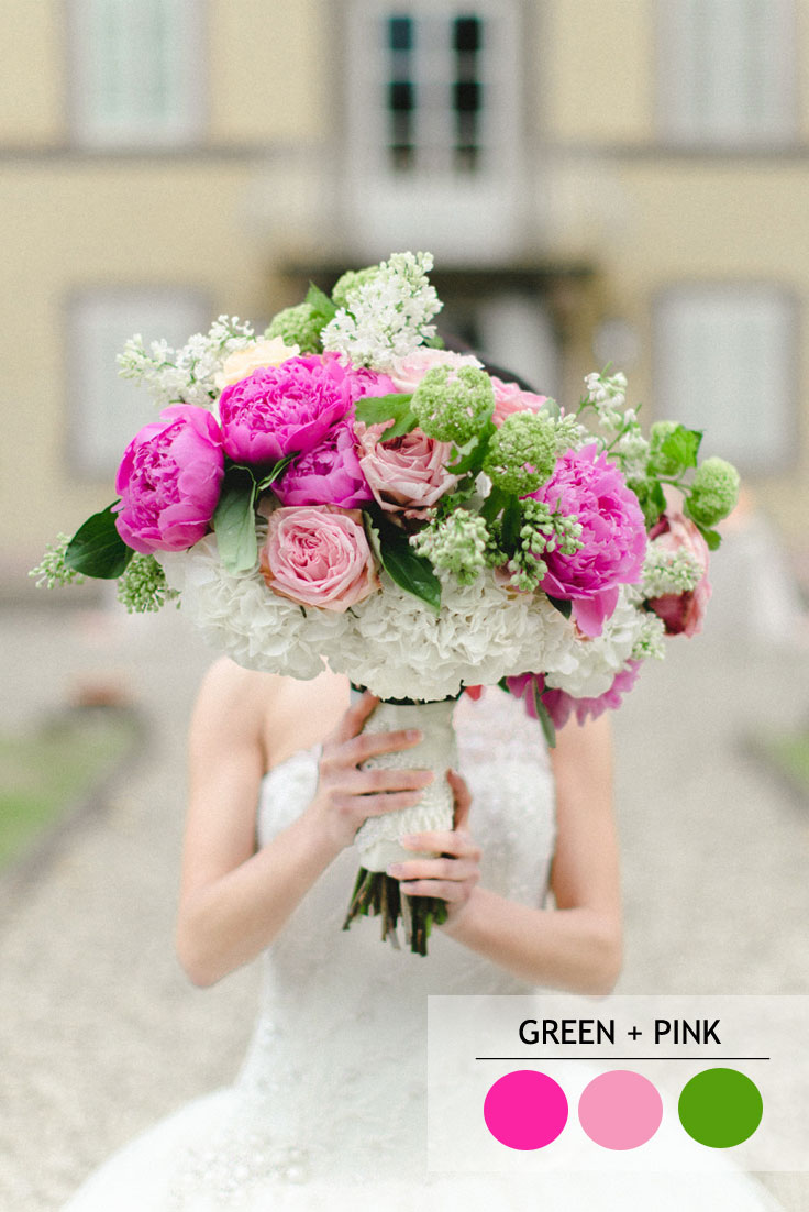 green and pink summer wedding color combos