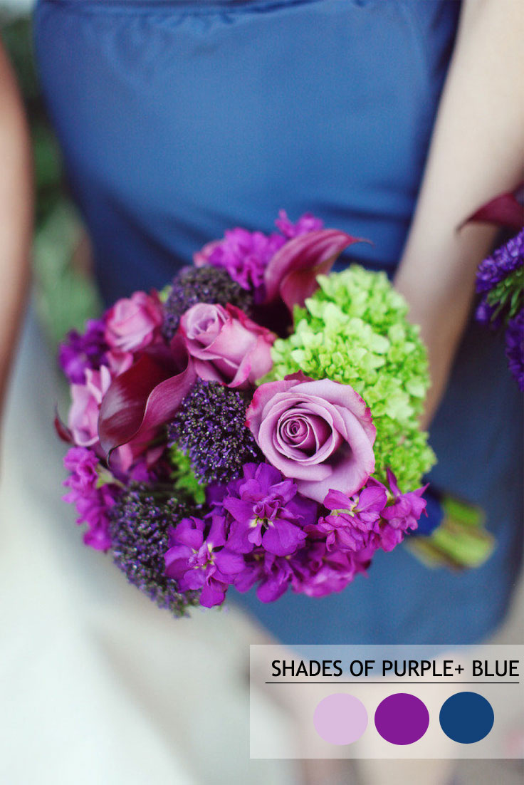 Green Purple And Blue Summer Wedding Color Combos