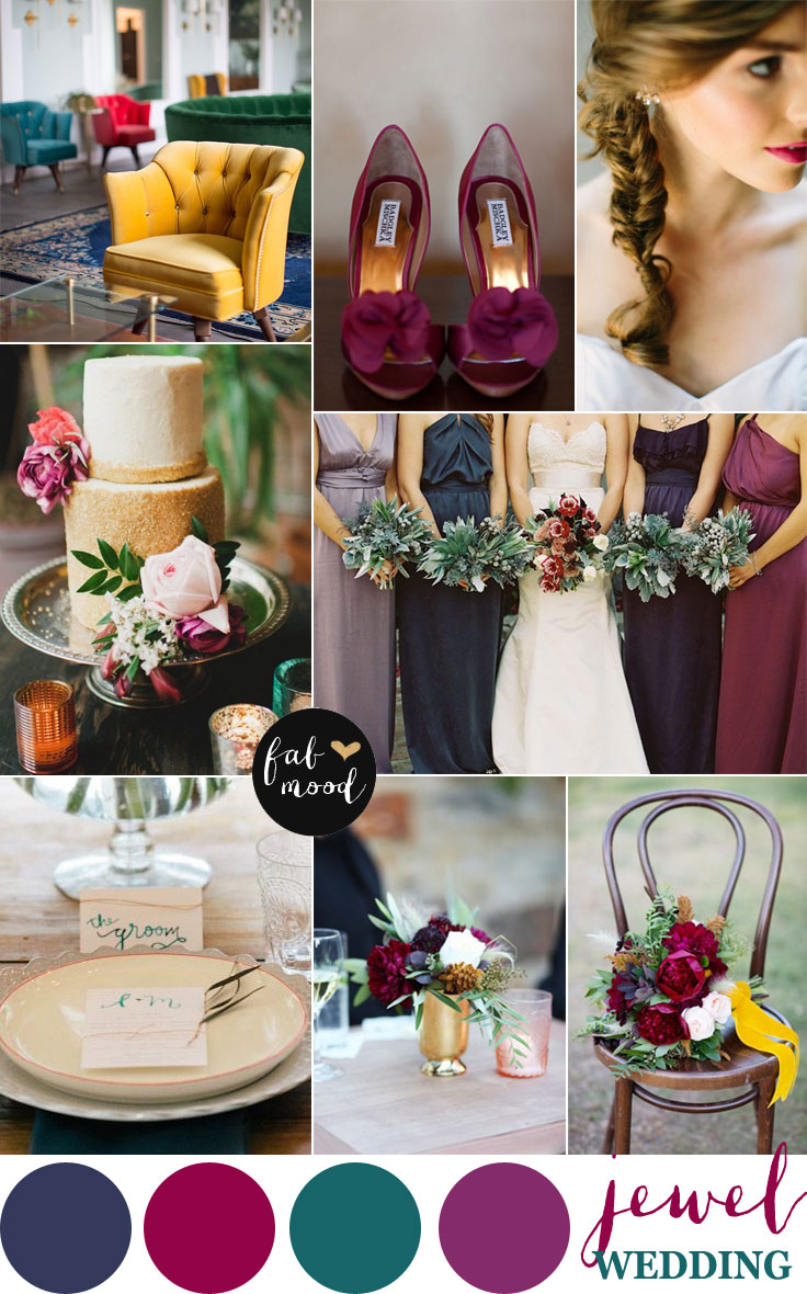 Jewel toned wedding palette jewel tone wedding colors for Winter wedding color palettes