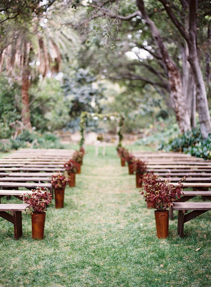 Unique outdoor wedding ceremony ideas for Backyard wedding ceremony decoration ideas