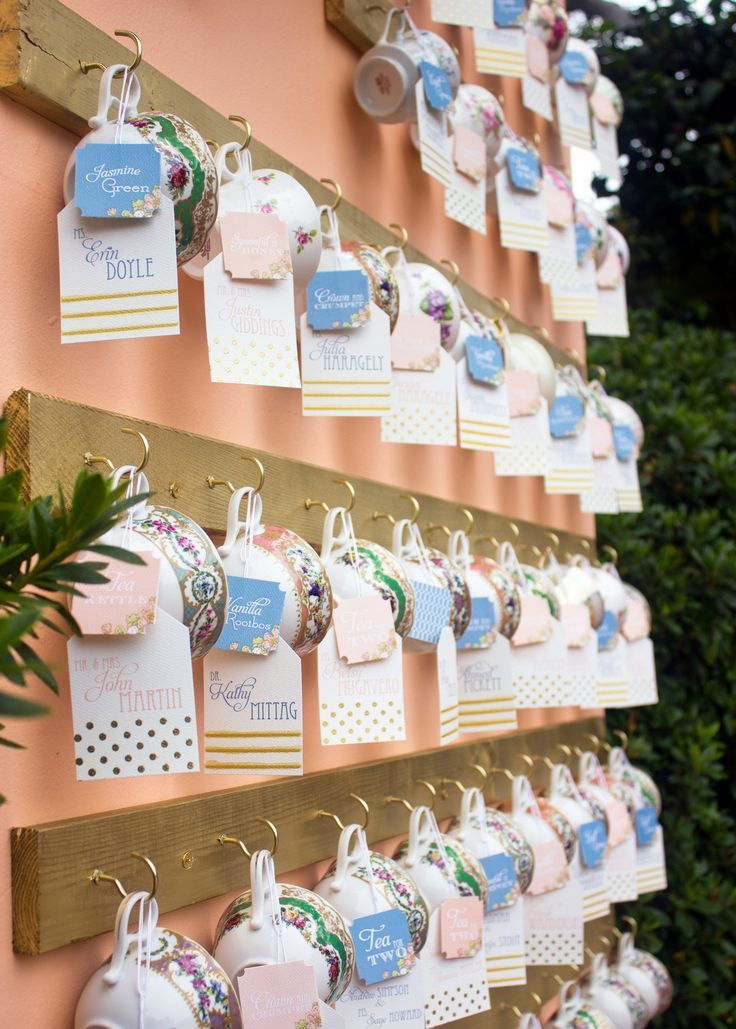 Fun wedding escort cards ideaseco friendly escort cards tea cup wedding escort cards ideas photography irish grzanich photography irishgrzanich junglespirit Images