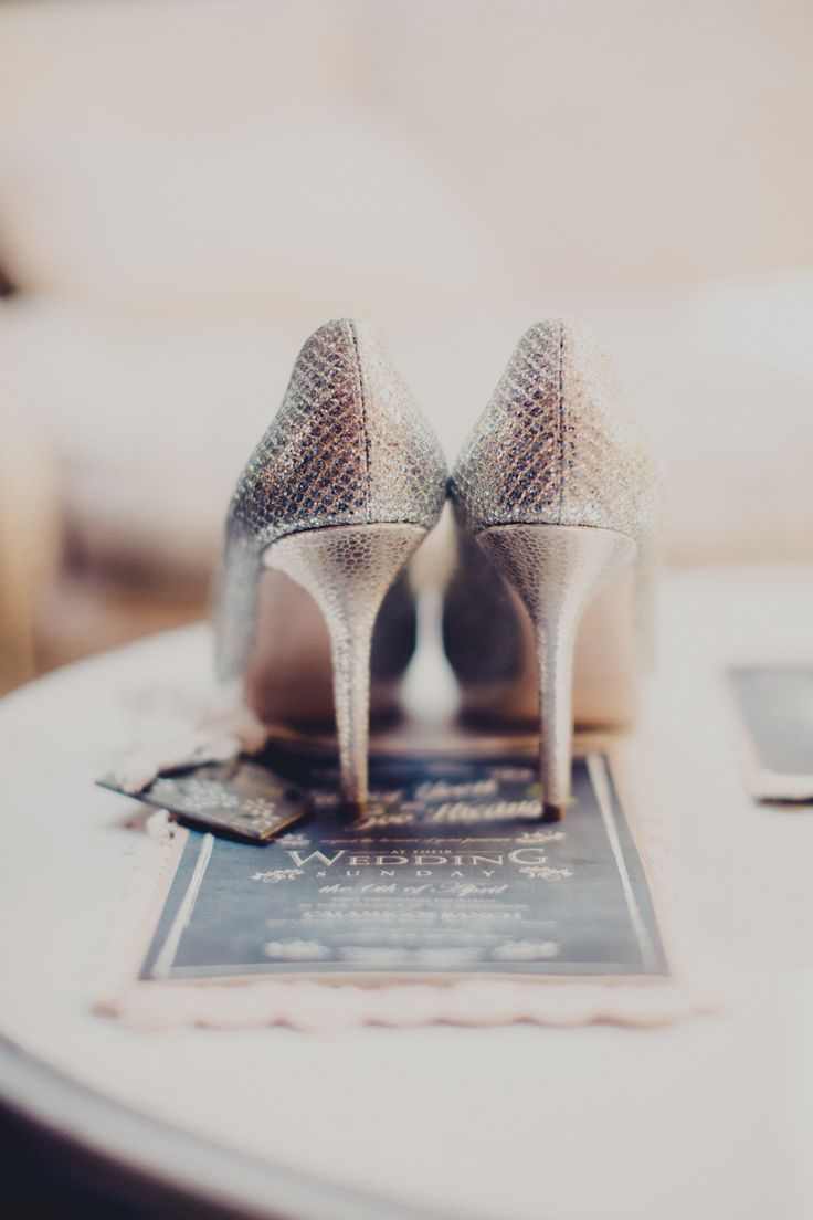 Sparkly Jimmy Choos for the bride. Photography: AndySeo Studio - andyseostudio.com