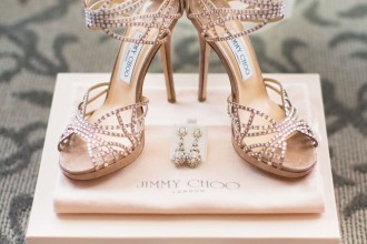 Strappy Jimmy Choo Shoes | Photography: Jonathan Young - jyweddings.com