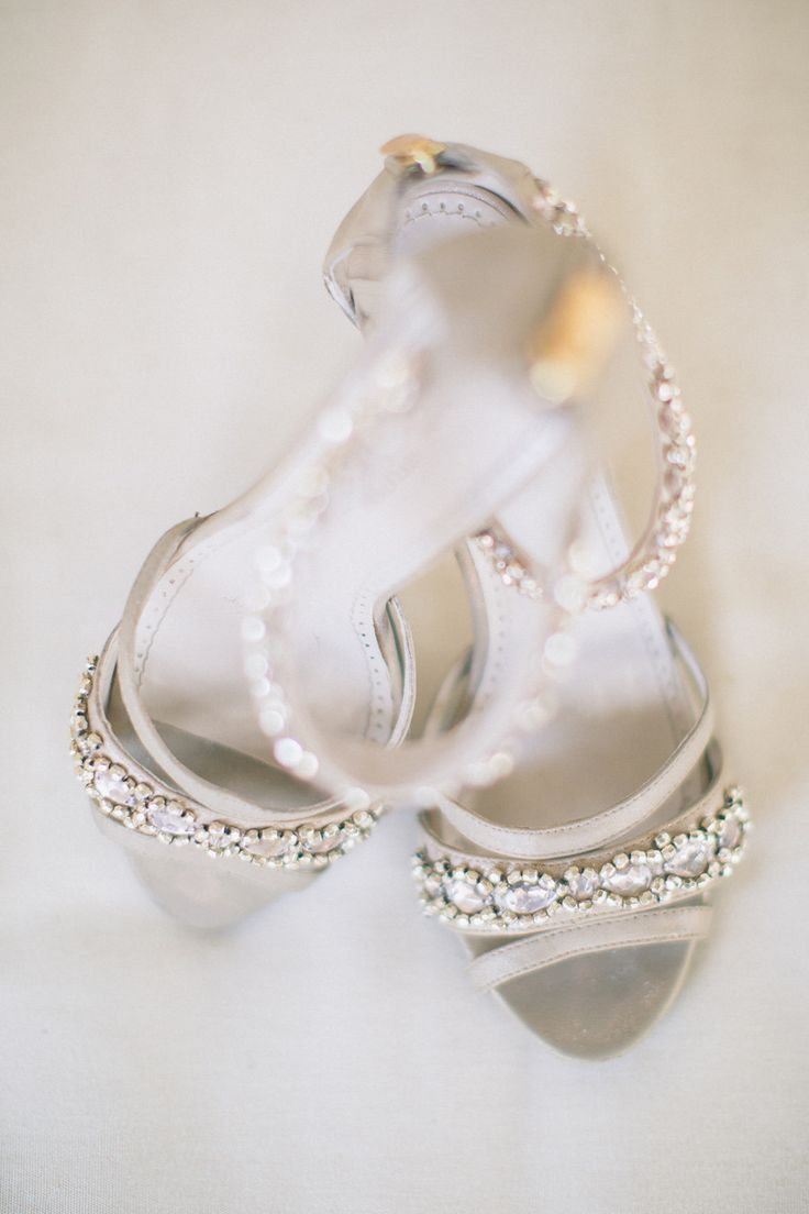 Sparkly Adrienne Vittandini pumps | Nocatee, Florida Wedding from J. Layne Photography