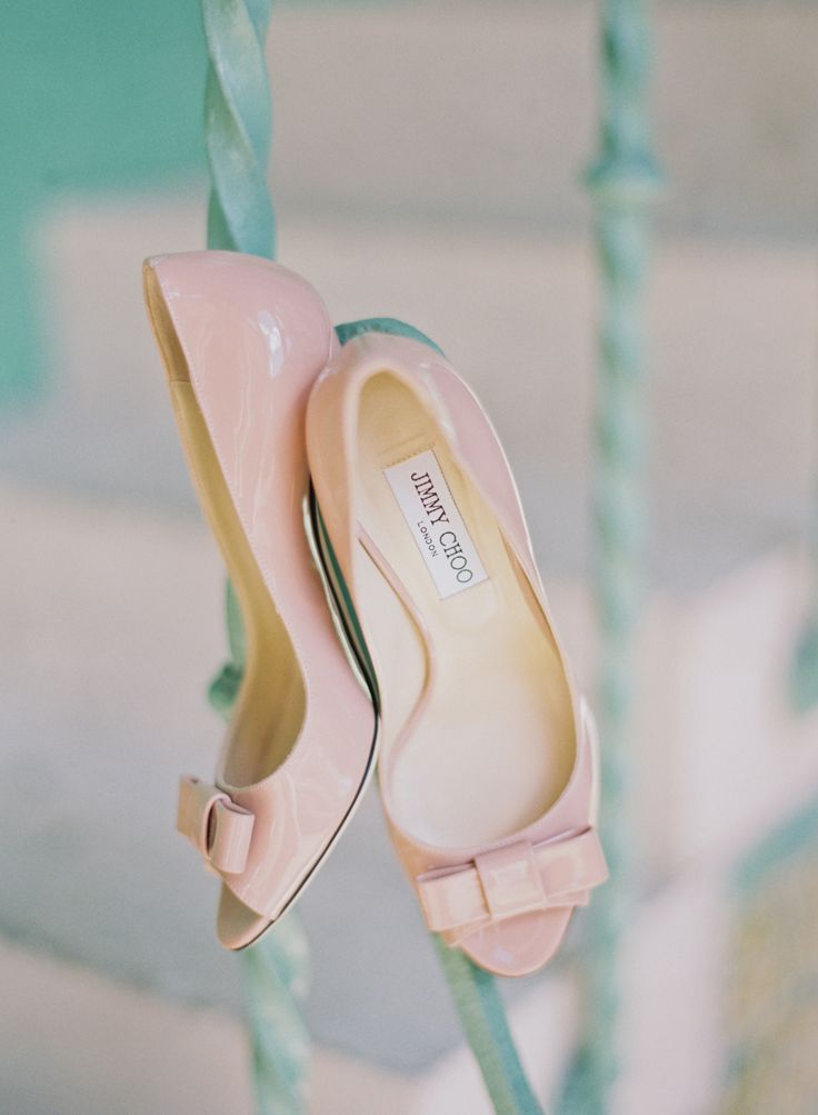 Pink Patent Leather Jimmy Choo Shoes | Photography : Michelle March Photography