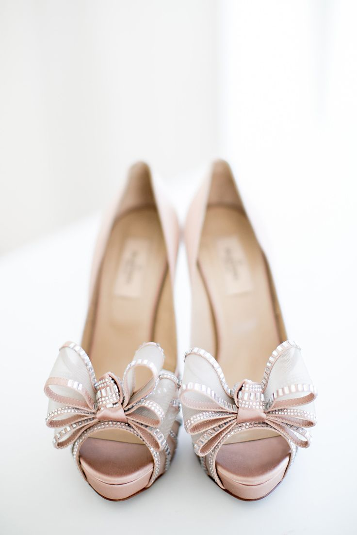 Nude Valentino wedding shoes | Photography: Ashley McCormick