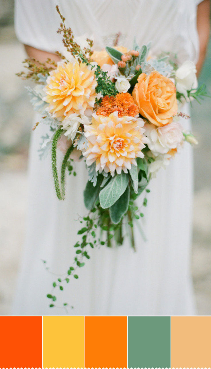 Autumn wedding bouquet - Orange Hues To Increase The Spectrum of Colour | fabmood.com