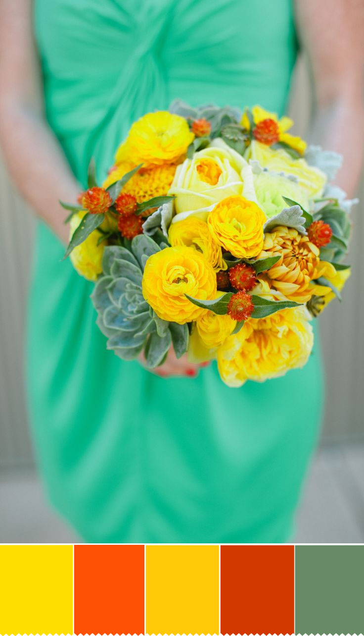 Yellow Autumn wedding bouquet | fabmood.com