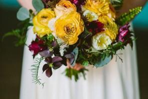 Yellow and Purple Autumn wedding bouquet | fabmood.com