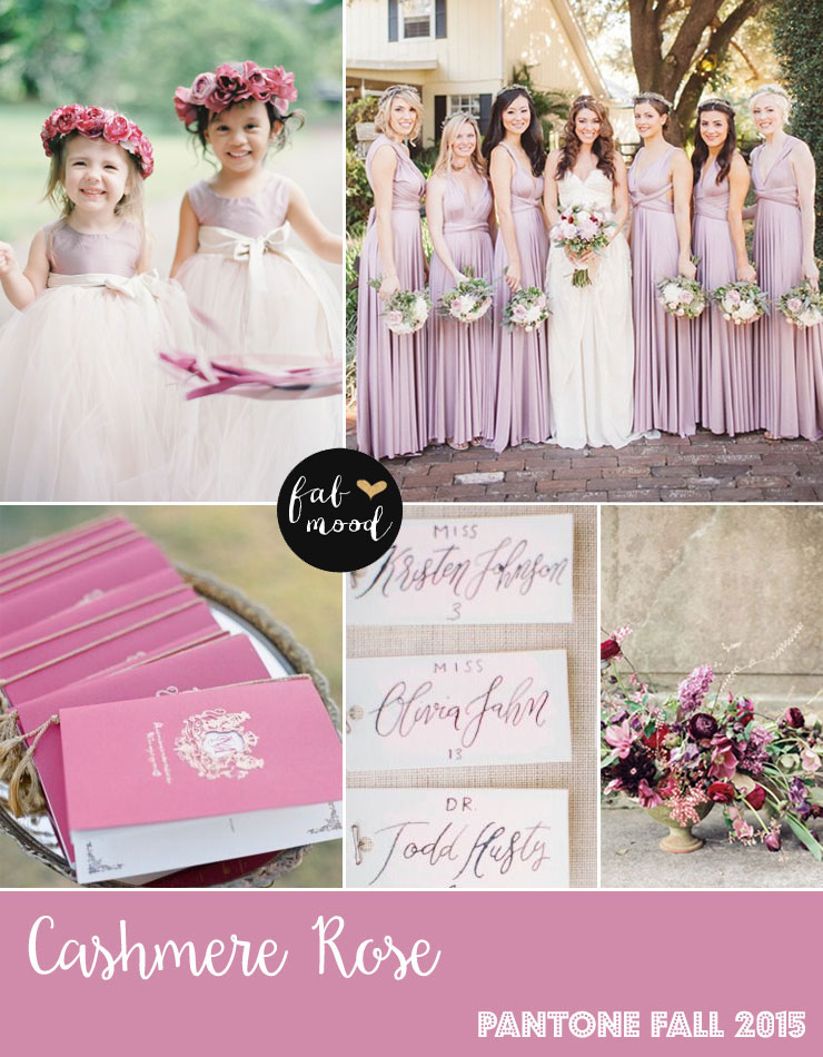 Cashmere Rose Wedding Colors - Pantone Color Fall 2015 | fabmood.com