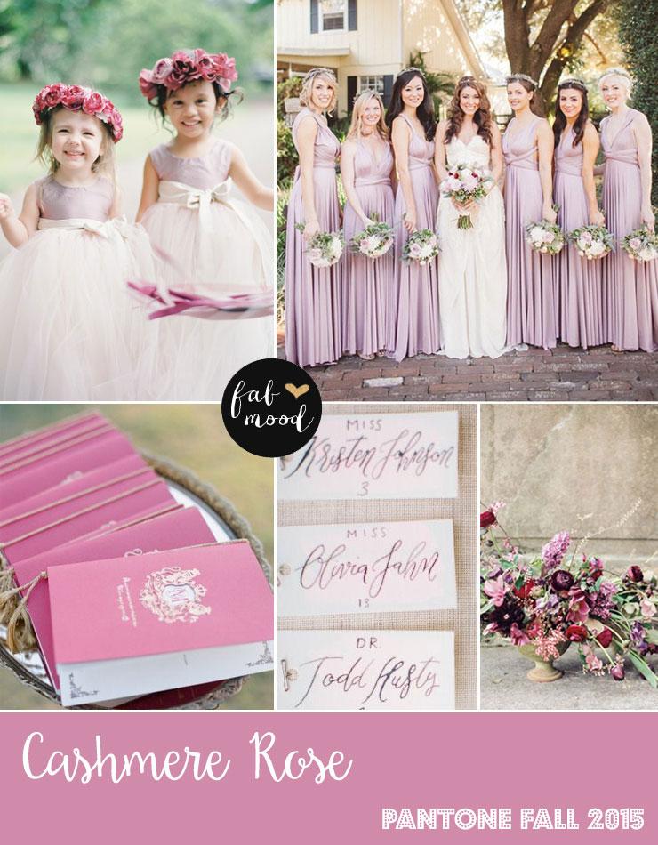 Cashmere Rose Wedding Colors - Pantone Color Fall 2015 | fabmood.com