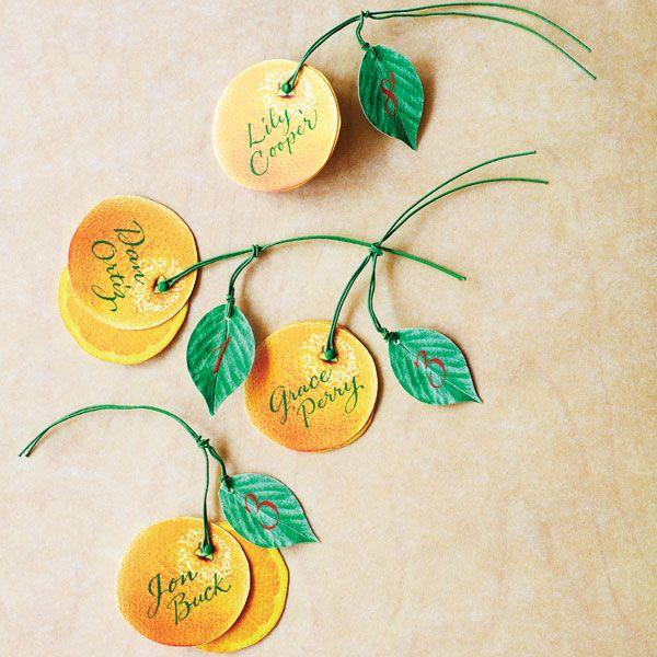 Citrus and pink wedding ideas