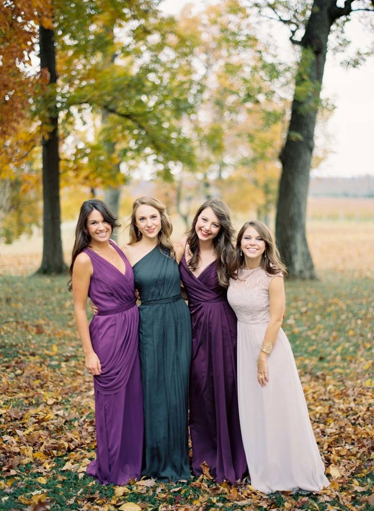 Jewel Tones Bridesmaids perfect for autumn wedding