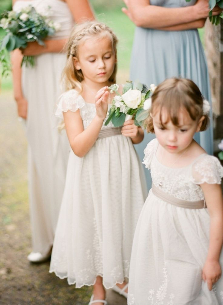 Adorable Flower girls in Vintage dresses