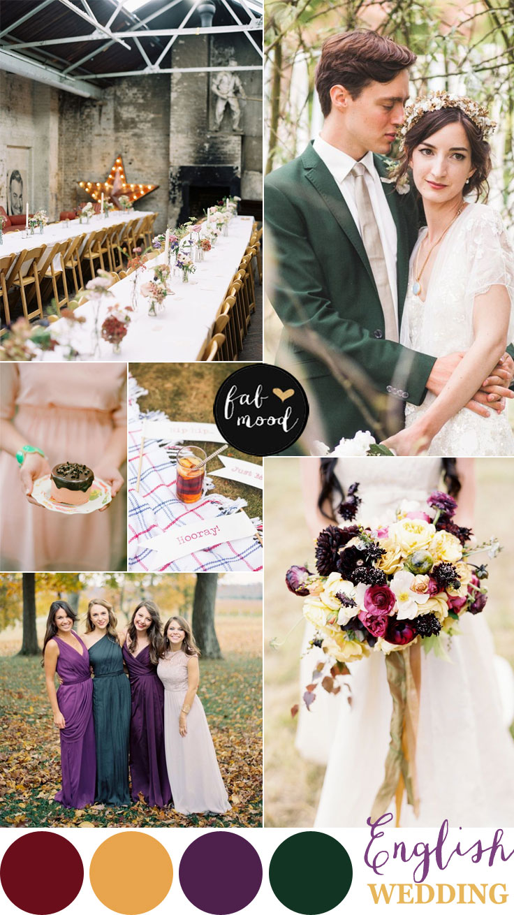 English Wedding Jewel Tone Wedding Palette