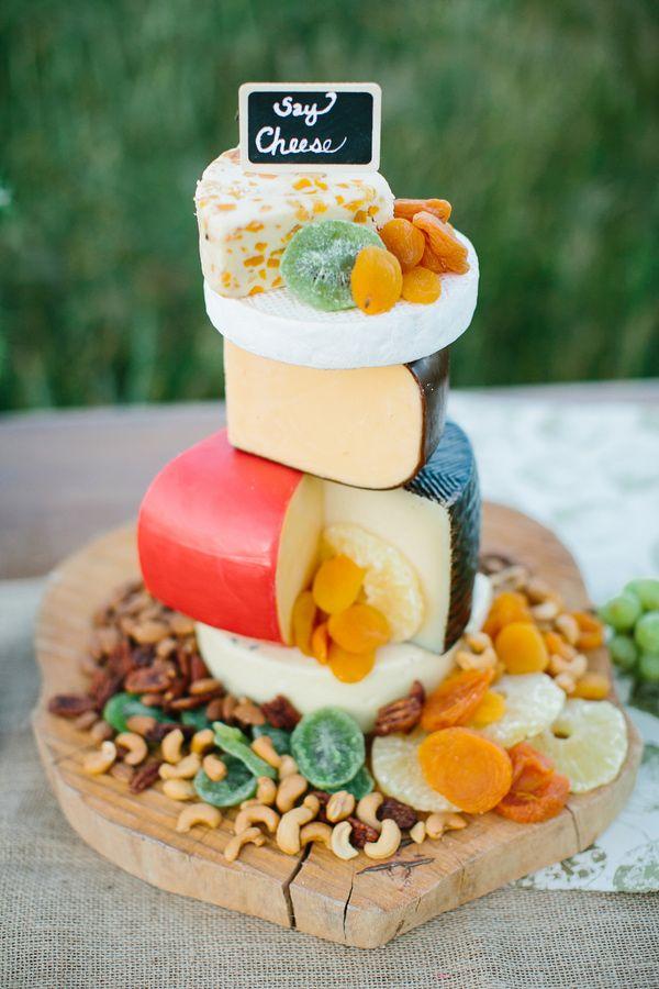 cheese as a wedding cake