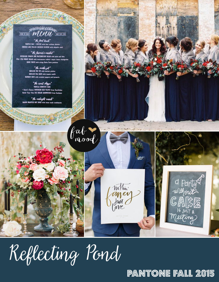 Reflecting Pond Wedding Colors - Pantone Color Fall 2015