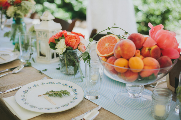 Fruits as centerpices - Stunning wedding tablescapes ideas | fabmood.com