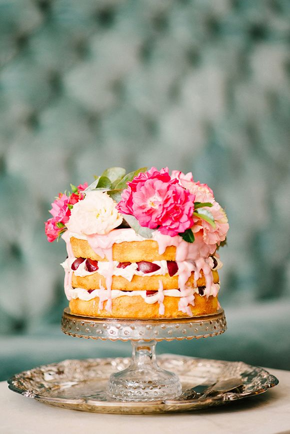 Beautiful Berry Summer Wedding Cake