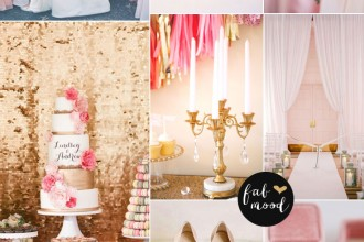 blush and gold wedding palette