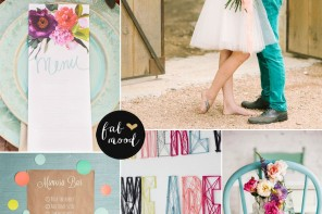Bright Summer Wedding Colours