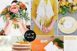 Citrus wedding colours