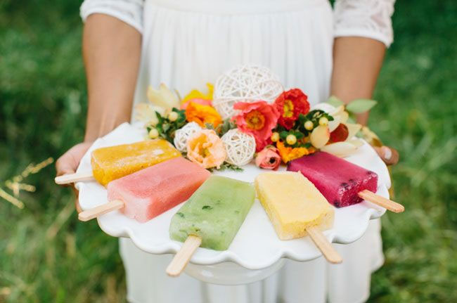Citrus and pink wedding ideas